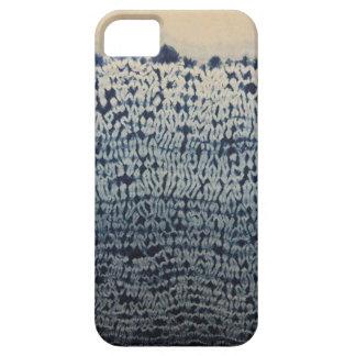 深く青いろうけつ染めのiPhoneの箱 iPhone SE/5/5s ケース