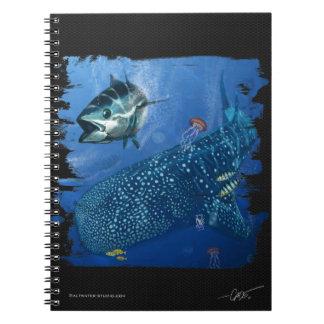 深く青いノートのジンベイザメ ノートブック
