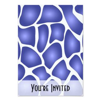深く青い任意モザイク模様 カード