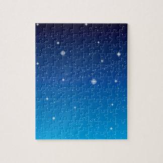 深く青い星明かりの夜空 ジグソーパズル