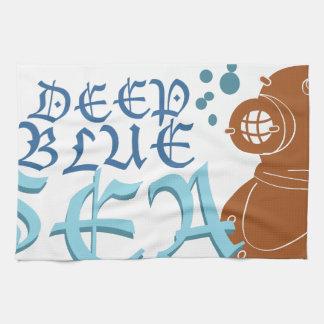 深く青い海 キッチンタオル