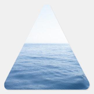 深く青い海 三角形シール
