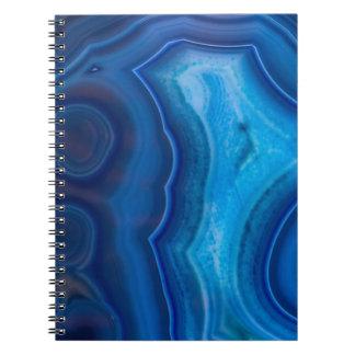 深く青い礁湖の瑪瑙 ノートブック