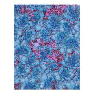 深く青い紫色の抽象芸術の花 レターヘッド