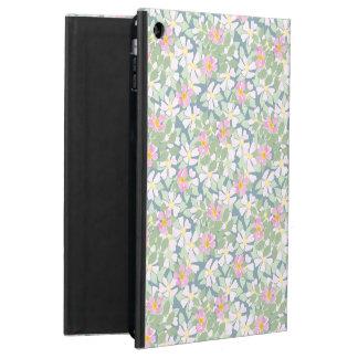 深く青いPowisのiCaseのiPadの箱のピンクのDogroses iPad Airケース