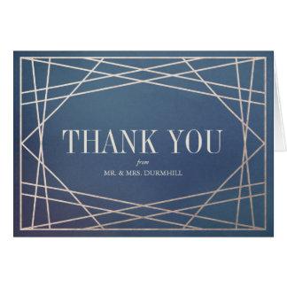 深く青くオパールのようなおよびシャンペンの金ゴールドは感謝していしています カード