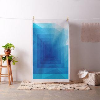 深さの青の抽象芸術の幾何学的な生地に ファブリック