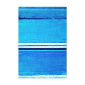 「深さ」の青い抽象美術 キャンバスプリント