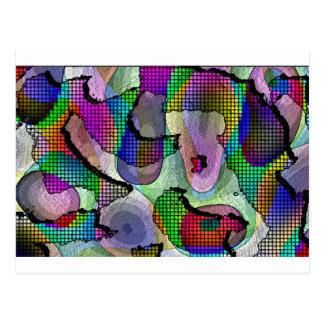 深さ、層、色のパターン ポストカード