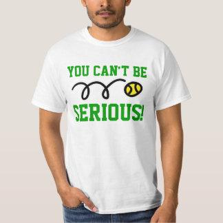 深刻である場合もあります! テニスのTシャツかスエットシャツ Tシャツ