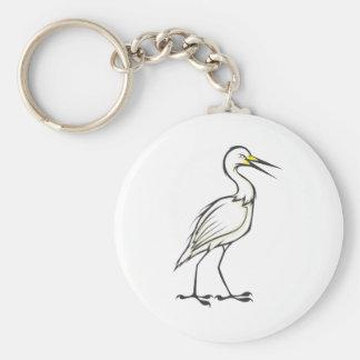 深刻で素晴らしい白鷺の鳥 キーホルダー