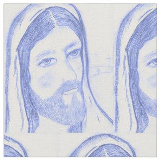 深刻なイエス・キリスト ファブリック