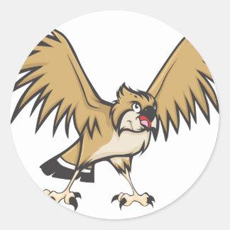 深刻なミサゴの鳥 ラウンドシール