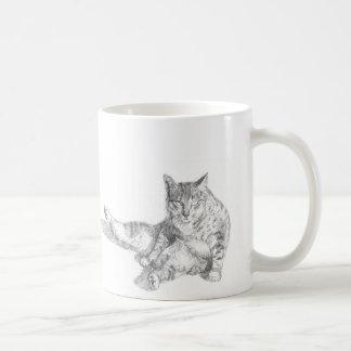 深刻な猫 コーヒーマグカップ