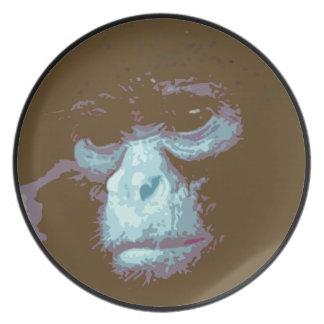 深刻な猿の面板(茶色) プレート