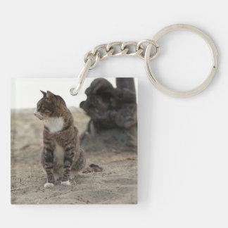 深刻な野生猫 キーホルダー