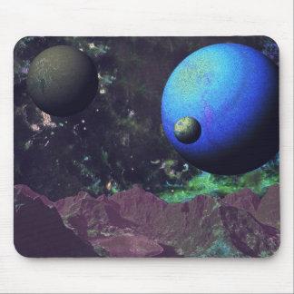 深宇宙のエイリアンの世界 マウスパッド