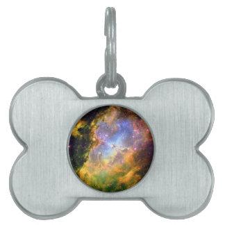 深宇宙の星雲 ペットネームタグ