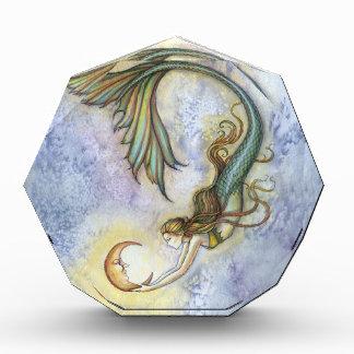 深海の月の人魚のファンタジーの芸術 表彰盾