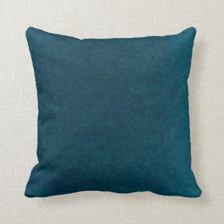 深海の水彩画-暗いティール(緑がかった色)の青および水 クッション