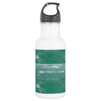 深海の緑:  波パターン ウォーターボトル