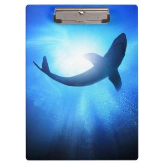 深海の鮫のシルエット クリップボード
