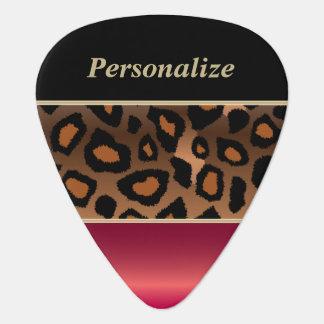 深紅および黒いジャガーは 個人化なります ギターピック