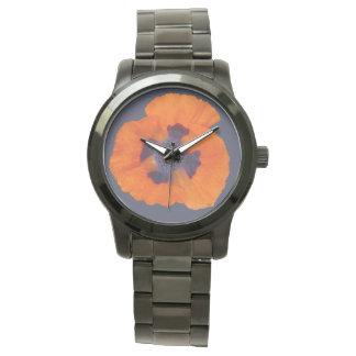 深紅のオレンジケシ1 腕時計