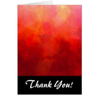深紅のオレンジ黄色の水彩画の背景 カード