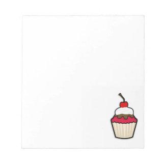 深紅のカップケーキ ノートパッド