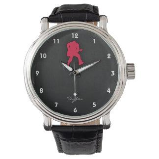 深紅のギター奏者 腕時計