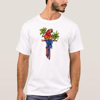 深紅のコンゴウインコの冷えること Tシャツ