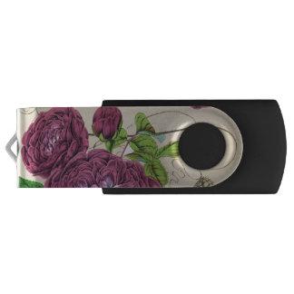 深紅のバラのヴィンテージ USBフラッシュドライブ