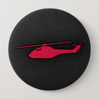 深紅のヘリコプター 10.2CM 丸型バッジ