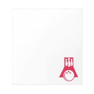 深紅のボーリング ノートパッド