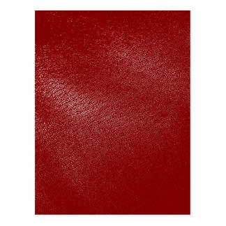 深紅のレザールック ポストカード