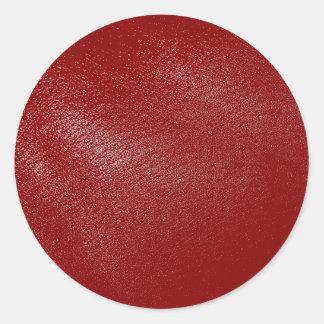 深紅のレザールック ラウンドシール