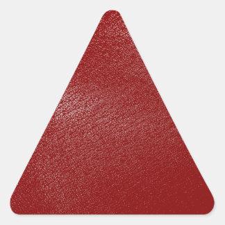 深紅のレザールック 三角形シール