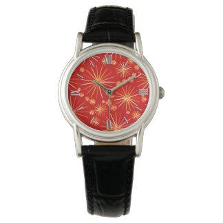 深紅の世紀半ばのSputnikパターン 腕時計