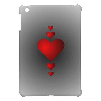 深紅の愛ハート iPad MINI カバー