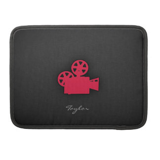 深紅の映画用カメラ MacBook PROスリーブ