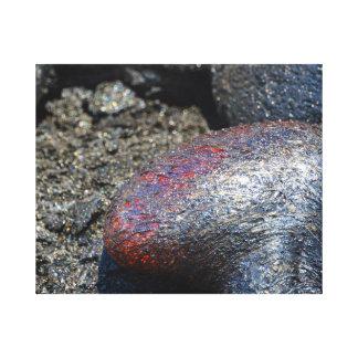 深紅の溶岩の泡 キャンバスプリント