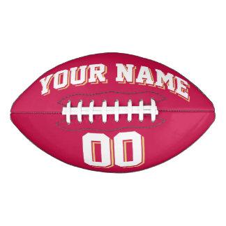 深紅の白く、古い金ゴールドの習慣のフットボール アメリカンフットボール