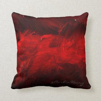 深紅の装飾的な枕 クッション