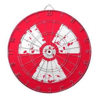 深紅の赤く有毒な放射性記号 ダーツボード