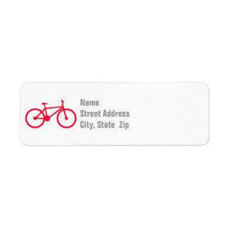 深紅の赤の自転車 ラベル