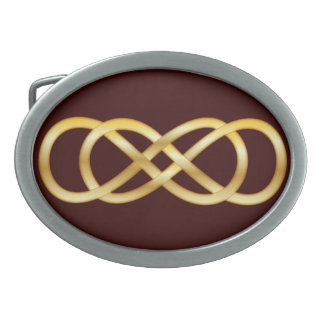 深紅の金ゴールドの二重無限-ベルトの留め金 卵形バックル