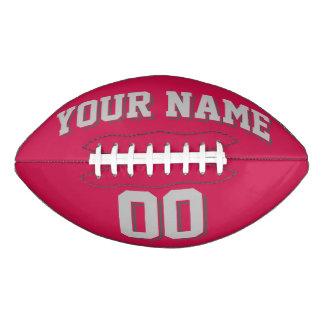 深紅の銀製の灰色および灰色の習慣のフットボール アメリカンフットボール