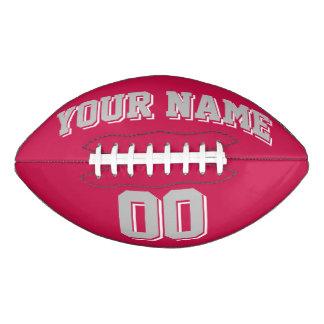 深紅の銀製の灰色および白の習慣のフットボール アメリカンフットボール