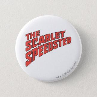 深紅のSpeedsterのロゴ 5.7cm 丸型バッジ